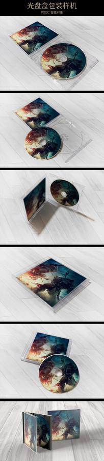 多角度塑料盒光盘包装样机