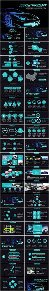 汽车4s店销售工作总结年中总结PPT模板