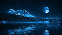 远山明月视频素材