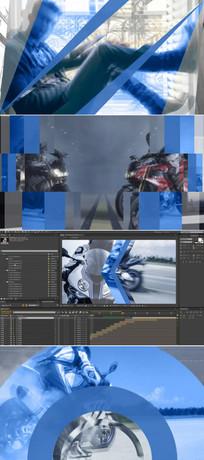 60个图形动画视频转场ae模板