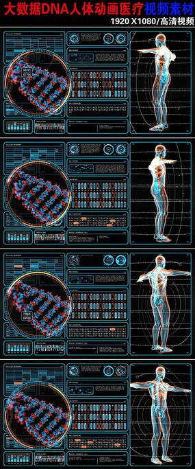 大气染色体动画人体医学背景视频素材下载