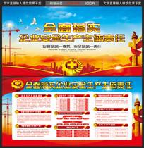 工地工厂安全生产展板