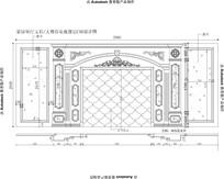 家装室内欧式雕花家居客厅大理石玉石电视背景CAD设计图