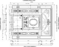 楼中楼欧式风格家居客厅大理石玉石电视背景CAD设计图