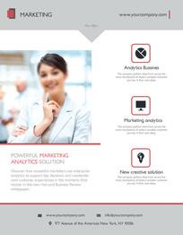 欧美医疗杂志宣传单页设计