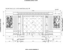 欧式雕花欧式罗马柱护墙板家居客厅大理石玉石电视背景CAD设计图