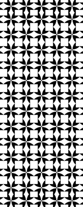 黑白幾何圖案雕刻