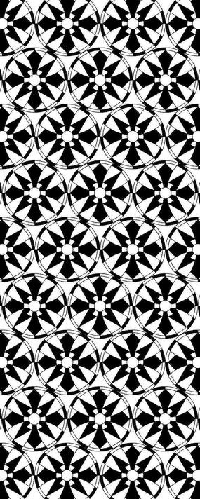黑白幾何形狀圖案