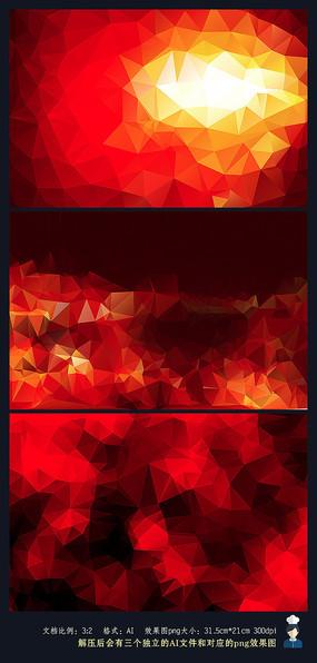 红色晶格矢量背景