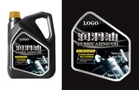 黑色润滑油标签