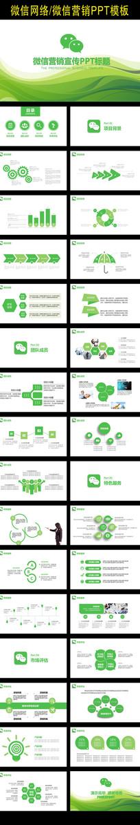 微信微营销推广宣传PPT模板