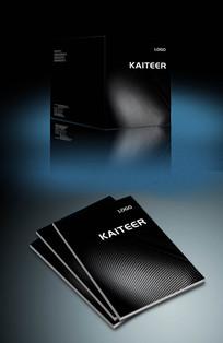 高端黑色企业画册封面设计