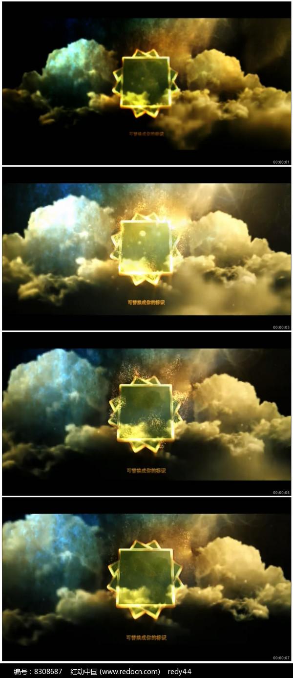 震撼大气黄金质感标志展示图片