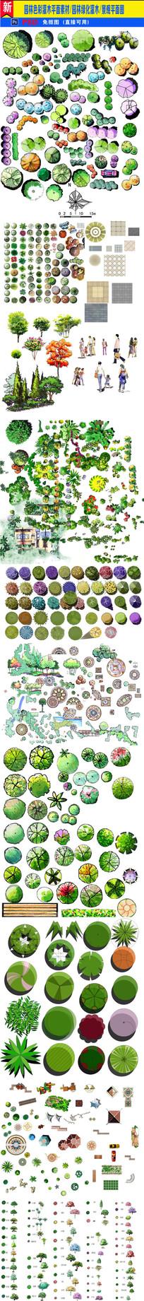 园林景观设计分层平面图素材集