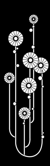 团团圆圆雕刻图案