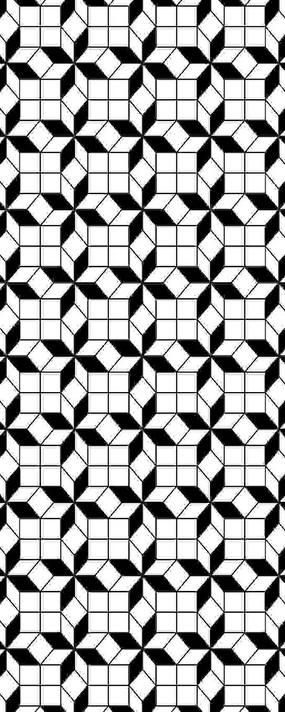 黑白方块图案