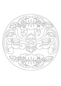 蝙蝠吉祥雕刻纹样
