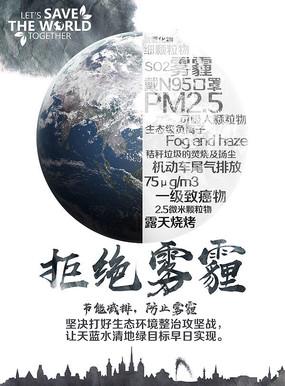 拒绝雾霾环保海报设计