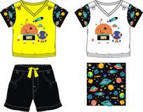 卡通儿童服装款式设计