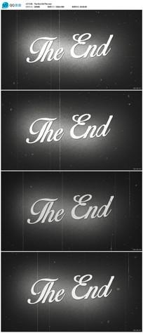 老电影结尾视频素材