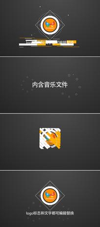 图形变化logo标志演绎模板