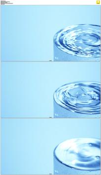 装满水的水杯实拍视频素材