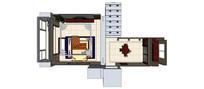简约家装客厅模型