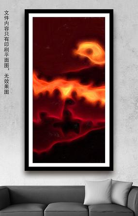 熔岩抽象油画装饰画
