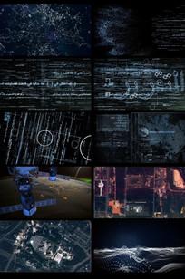 卫星计算机信息科技视频素材