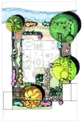 庭院设计手绘