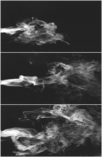 白色烟雾从左到右冒烟特效视频