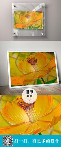 橙色花朵立体装饰画