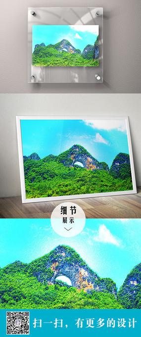 特色山脉风景立体装饰无框画