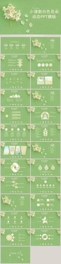 白色小花瓣小清新动态模板