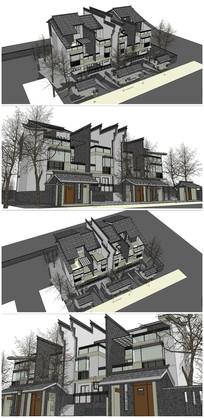微派联排别墅住宅SU模型