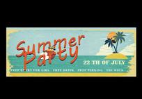 夏天复古海报设计