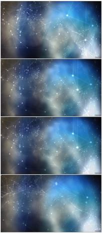 炫酷光效粒子连接图形动态视频