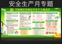 绿色清新安全生产月宣传栏