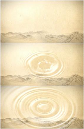 圆形山水画