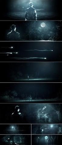 唯美森林粒子灯光荧光特效
