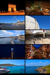 城市休闲度假视频素材
