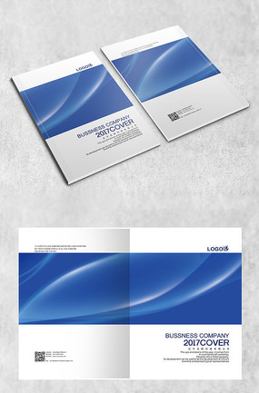 蓝白时尚企业原创封面