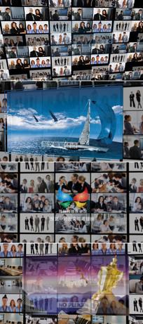 ae企业员工照片墙模板
