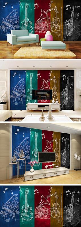乐器背景墙