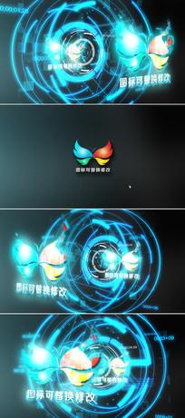 高科技logo演绎ae模板