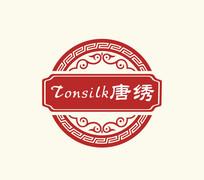 中国红古代古典logo