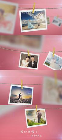 浪漫婚禮愛情電子相冊AE模板