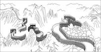 长城仙境雕刻图案