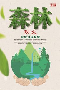 大气森林消防安全宣传展板