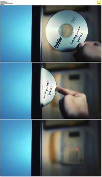 放光碟实拍视频素材
